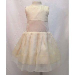 Zoe Ltd Girls Gown Dress Cream Ivory Sz 4 Wedding